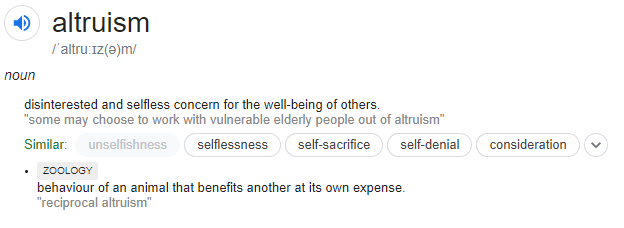 Altruism Meaning