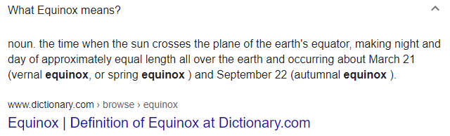 Equinox meaning and definition